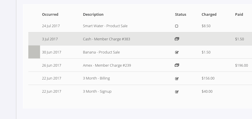 accounts related payment screenshots