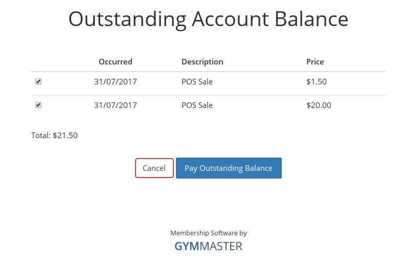 pay outstanding account balance screenshot