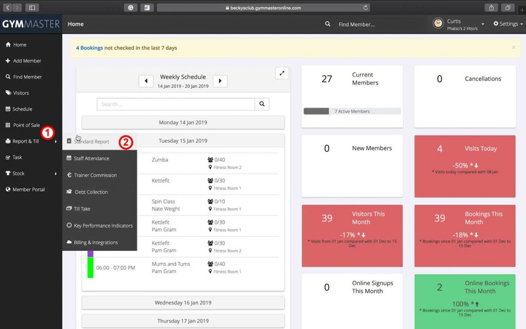 Dashboard Screenshot First steps to customise report