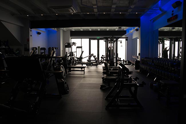 gym usage in winter - empty fitness club