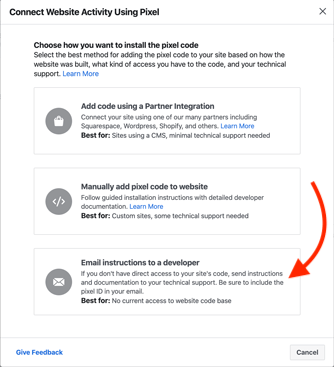 new facebook pixel integration steps gymmaster