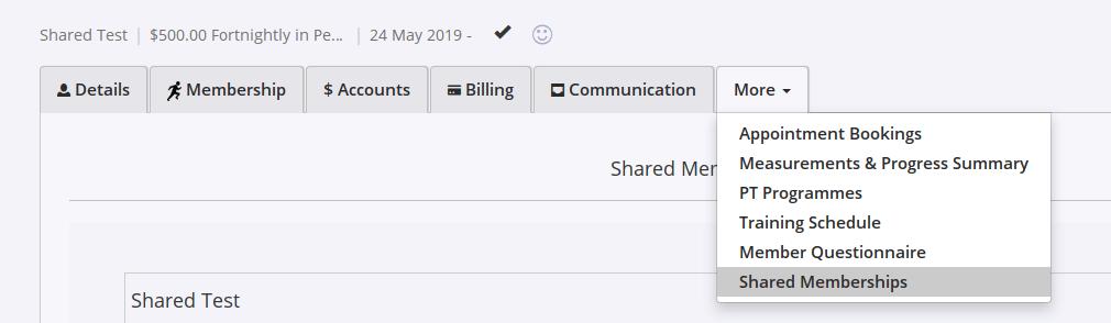 gym software shared memberships settings gymmaster