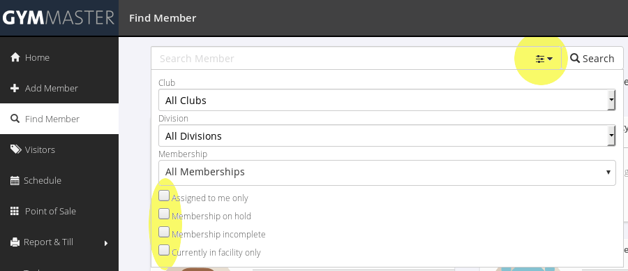 MemberSearchFilters
