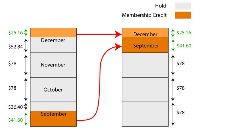 diagram of changes to membership holds