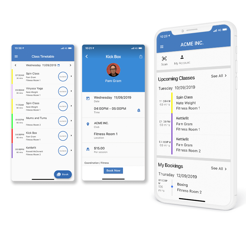 GymMaster Booking and Scheduling